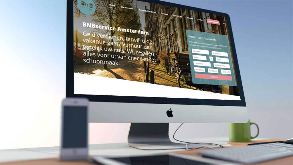 Professionele website voor BNBservice uit Amsterdam