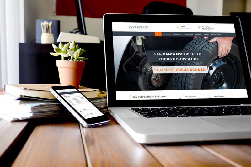 Nieuw webdesign Harus Banden uit Ederveen
