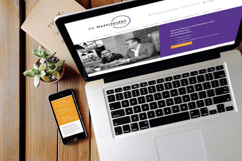 Meertalige website ontwikkeld voor incassobureau De Nederlanden