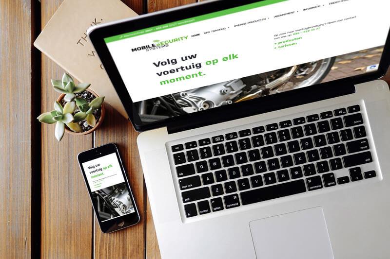 Nieuw website en SEO en Google Ads voor Mobile Security Systems