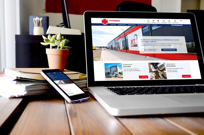 Nieuwe website voor Hardeman Systeembouw